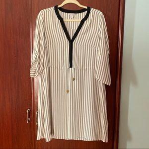 H&M stripes black and white dress